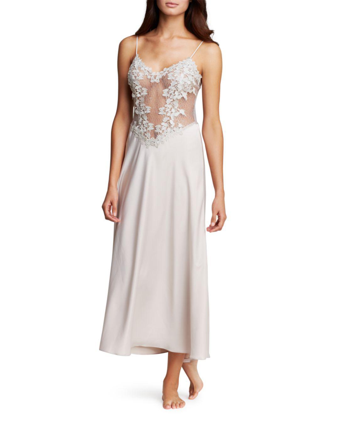 92862d70fb Lyst - Flora Nikrooz Showstopper Long Nightgown in Metallic