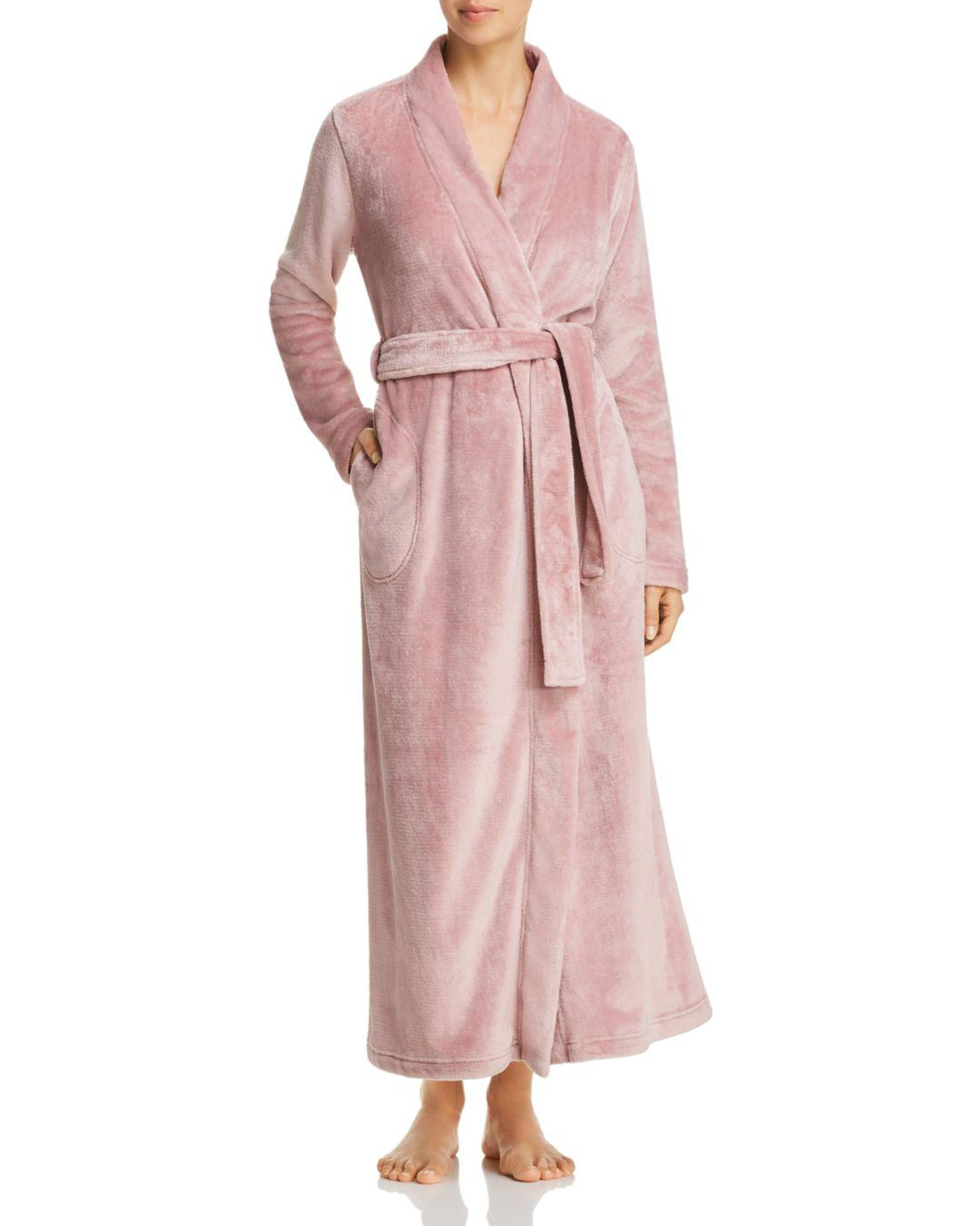 Lyst - UGG Marlow Plush Long Robe in Pink dbdae45af