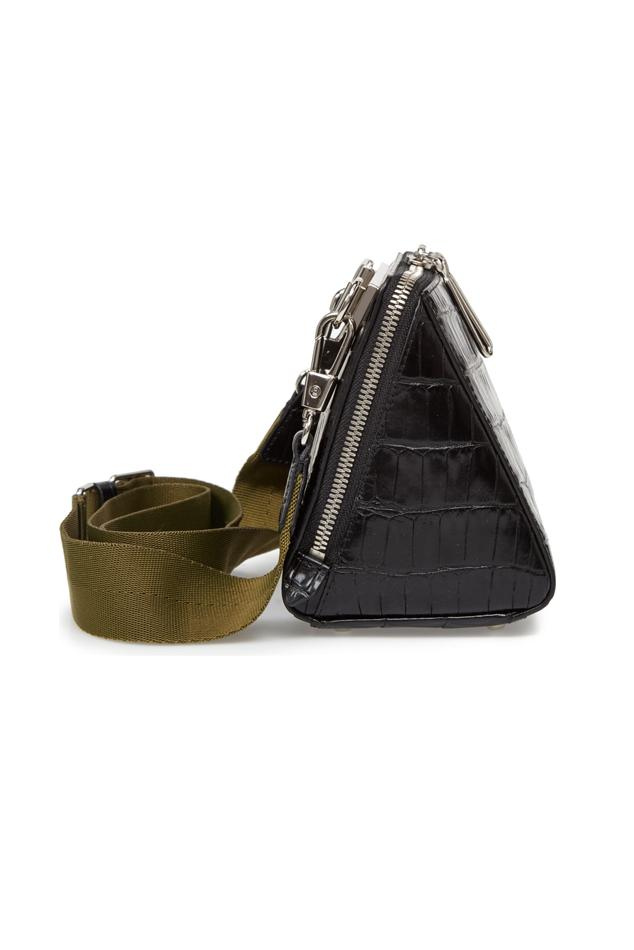 3.1 Phillip Lim Leather Ray Triangle Crossbody Bag in Black