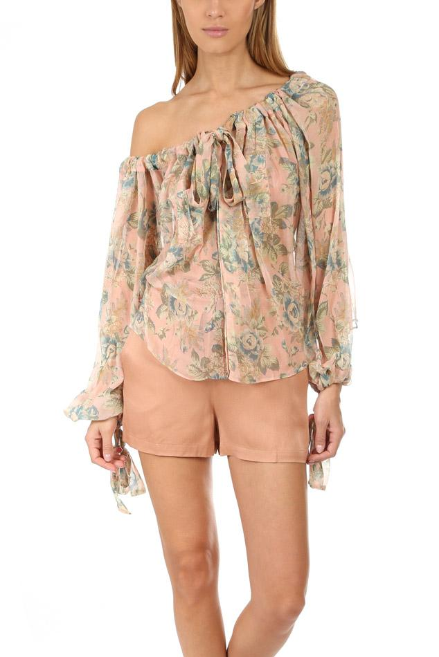 665fe3afbbbcb Zimmermann Tempest Gathers Blouse in Natural - Lyst