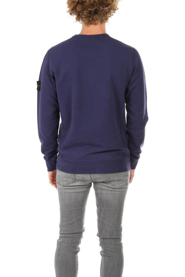 Stone Island Cotton Sweatshirt Ink in Blue for Men