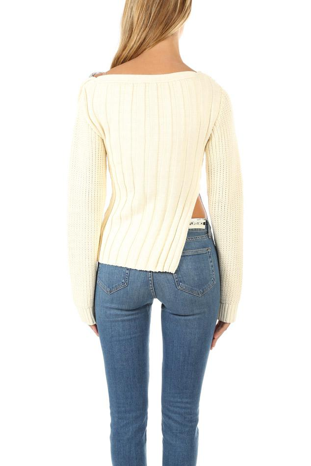 c0a7cf137a11 3.1 Phillip Lim - Multicolor Chainmail Paneled Sweater - Lyst. View  fullscreen
