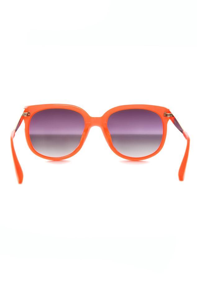 Linda Farrow Neon Orange Cat Eye Sunglasses
