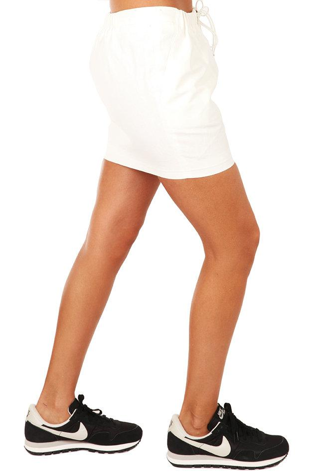 Elizabeth and James Linen Crawford Skirt in White