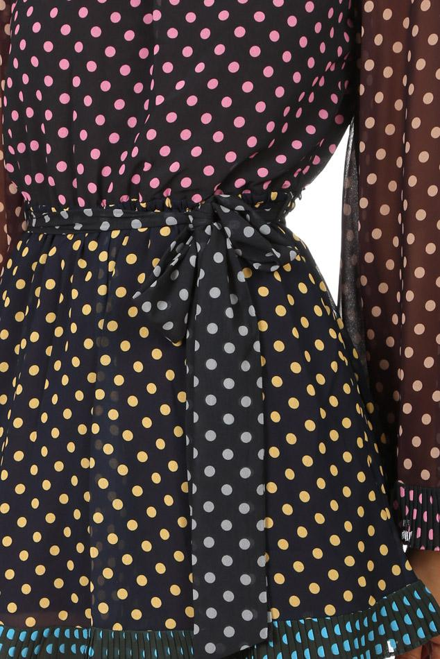 52fa601f2b6 Lyst - Zimmermann Maples Pleat Playsuit Dot in Black