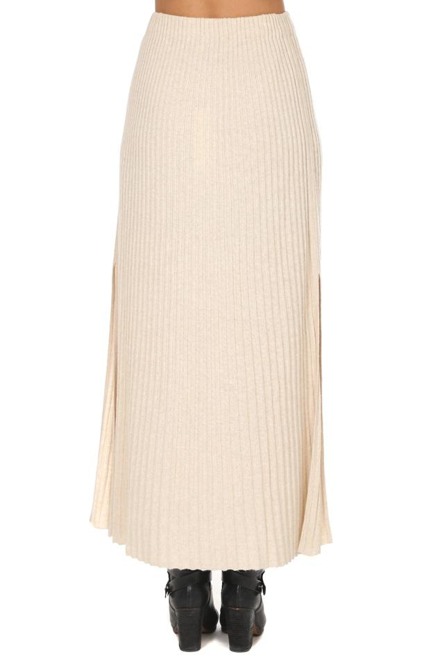 727fa4e082 Elizabeth and James Joelle Rib Knit Skirt in Natural - Lyst