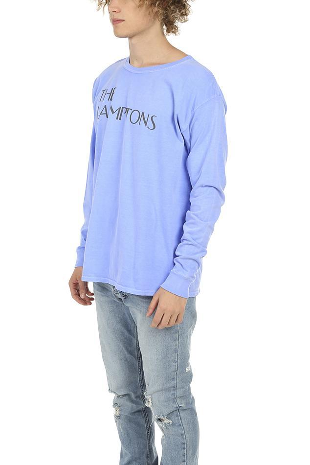 Blue & Cream Cotton Henleys Lamptons Ls Top in Purple for Men