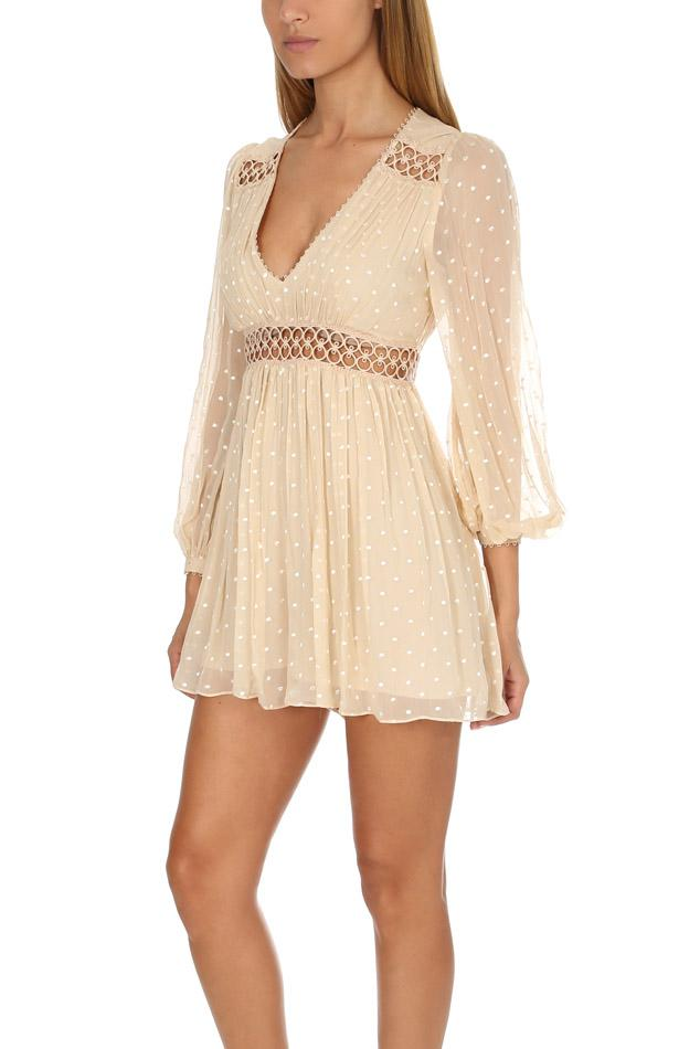 8cdab4dd2a5 Zimmermann Bowerbird Empire Playsuit in Natural - Lyst