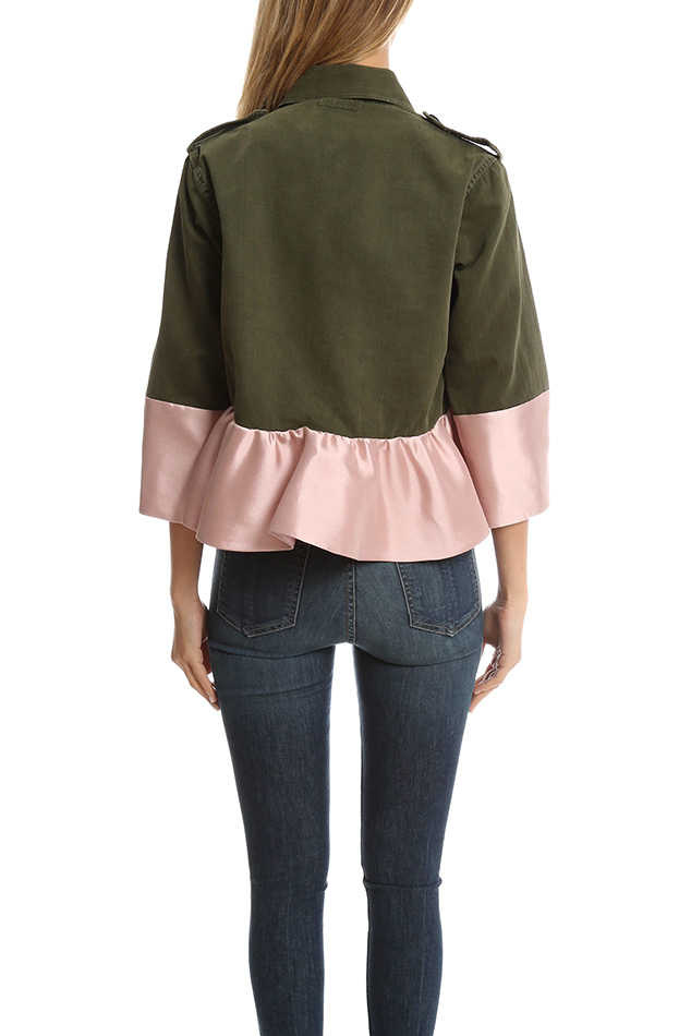 Harvey Faircloth Cropped Drab Field Jacket In Green Lyst