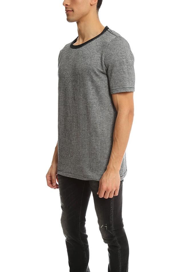 V :: Room Cotton French Terry S/s Crew Black for Men