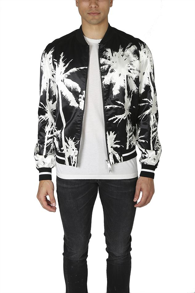 Golden Goose Deluxe Brand Cotton Palm Bomber Jacket in a1 Black+White (Black) for Men