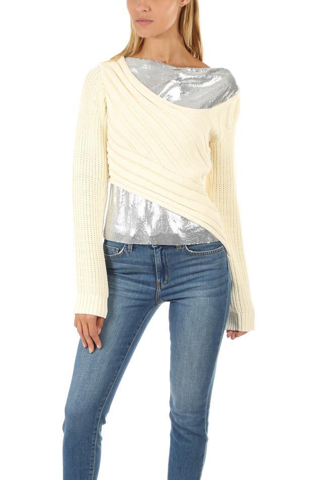 e4fe06e0315b 3.1 Phillip Lim. Women s Chainmail Paneled Sweater