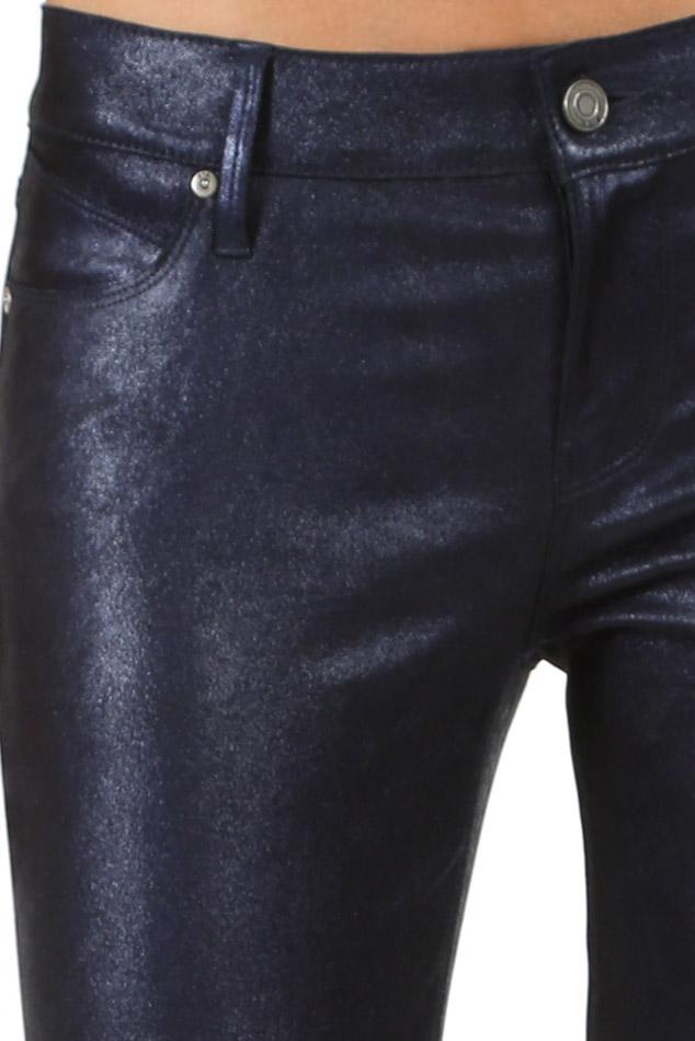 6a219555c8a4 RTA - Prince Leather Pants Metallic Blue - Lyst. View fullscreen