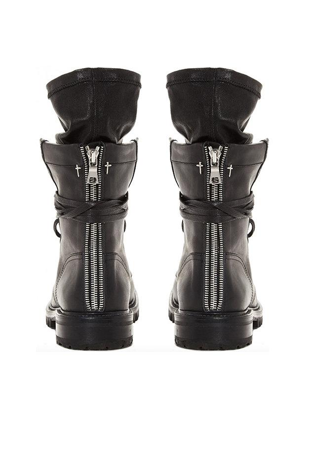 48e4422eaee5e RTA - Black Hybrid Combat Boots - Lyst. View fullscreen