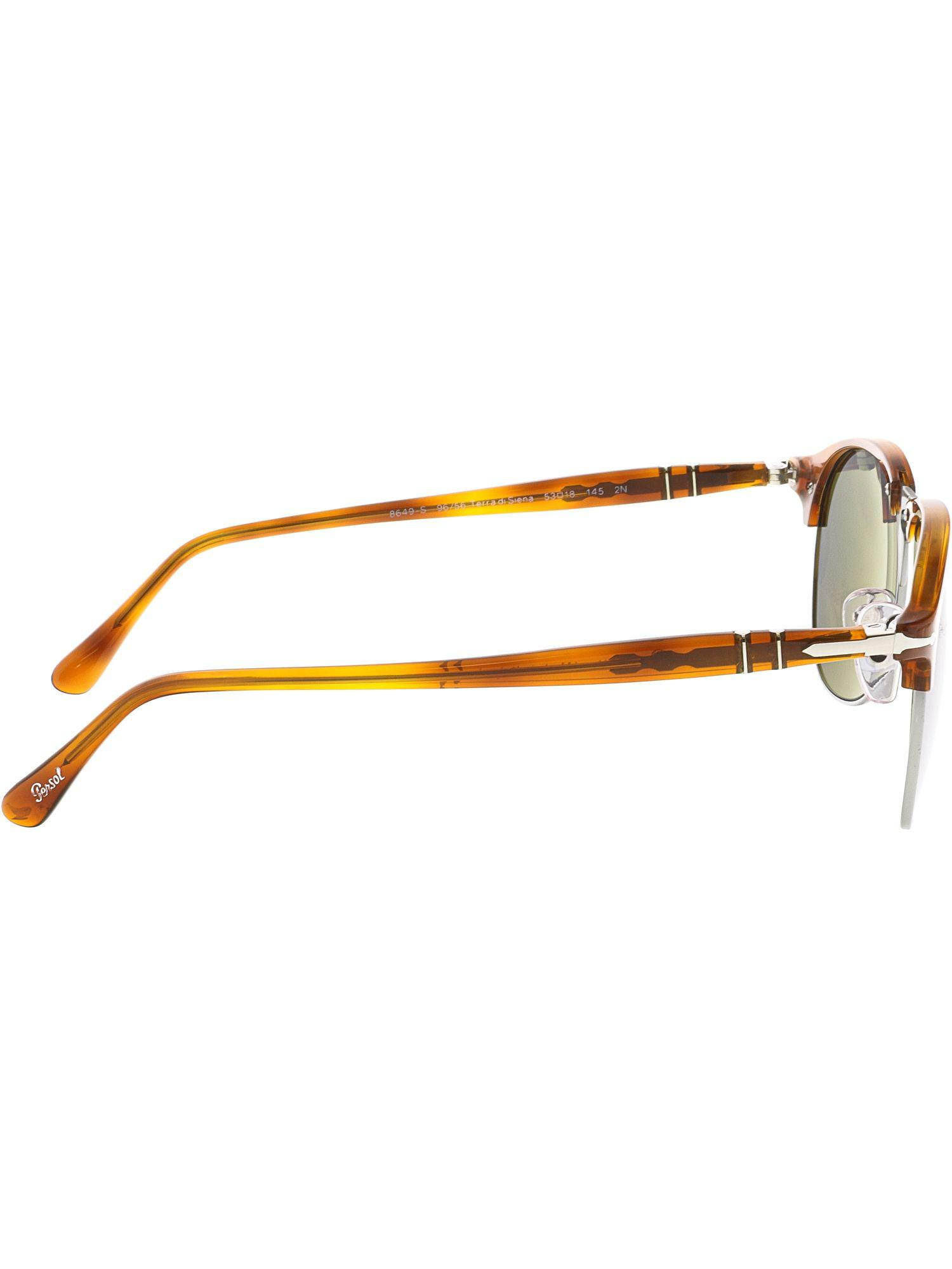bb8bf48be5 Lyst - Persol Men s Mirrored Po8649s-96 56-53 Brown Oval Sunglasses in  Brown for Men