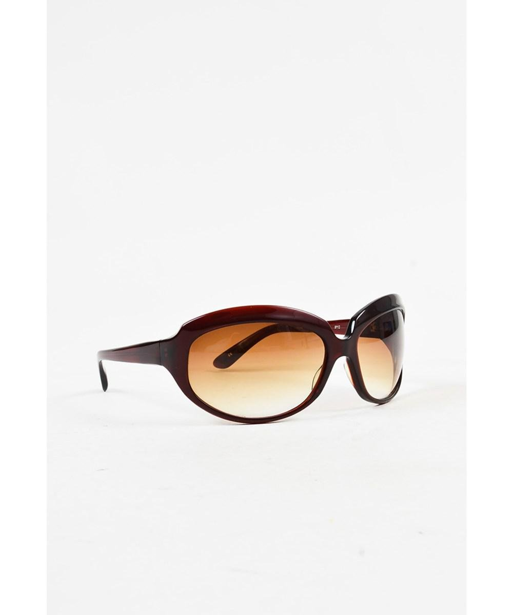 cb7c6ba6c3b1 Lyst - Oliver Peoples 1 Red Brown