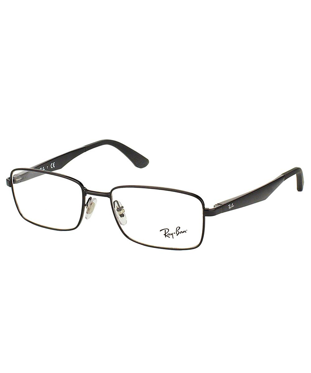 7840822c1b Ray-Ban Rectangle Metal Eyeglasses in Black - Lyst