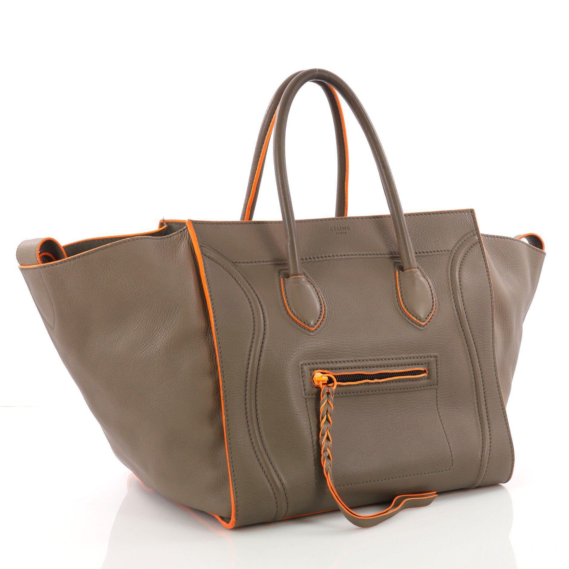 9a9e078187 Céline - Brown Pre Owned Phantom Handbag Grainy Leather Medium - Lyst. View  fullscreen