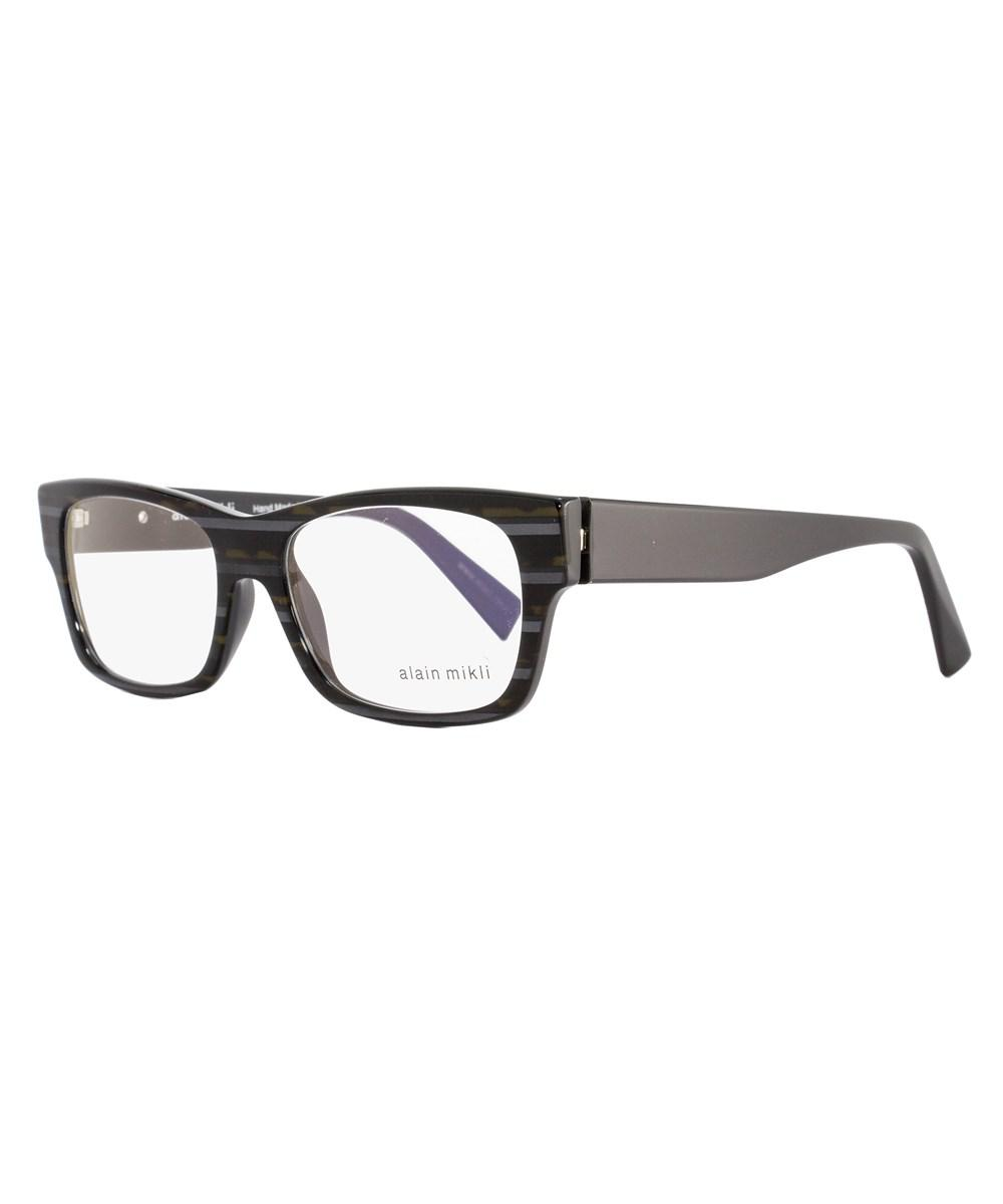 a9f158fcac Alain Mikli - Rectangular Eyeglasses A01320 B0at Size  53mm Stiped Brown gray  1320 -. View fullscreen