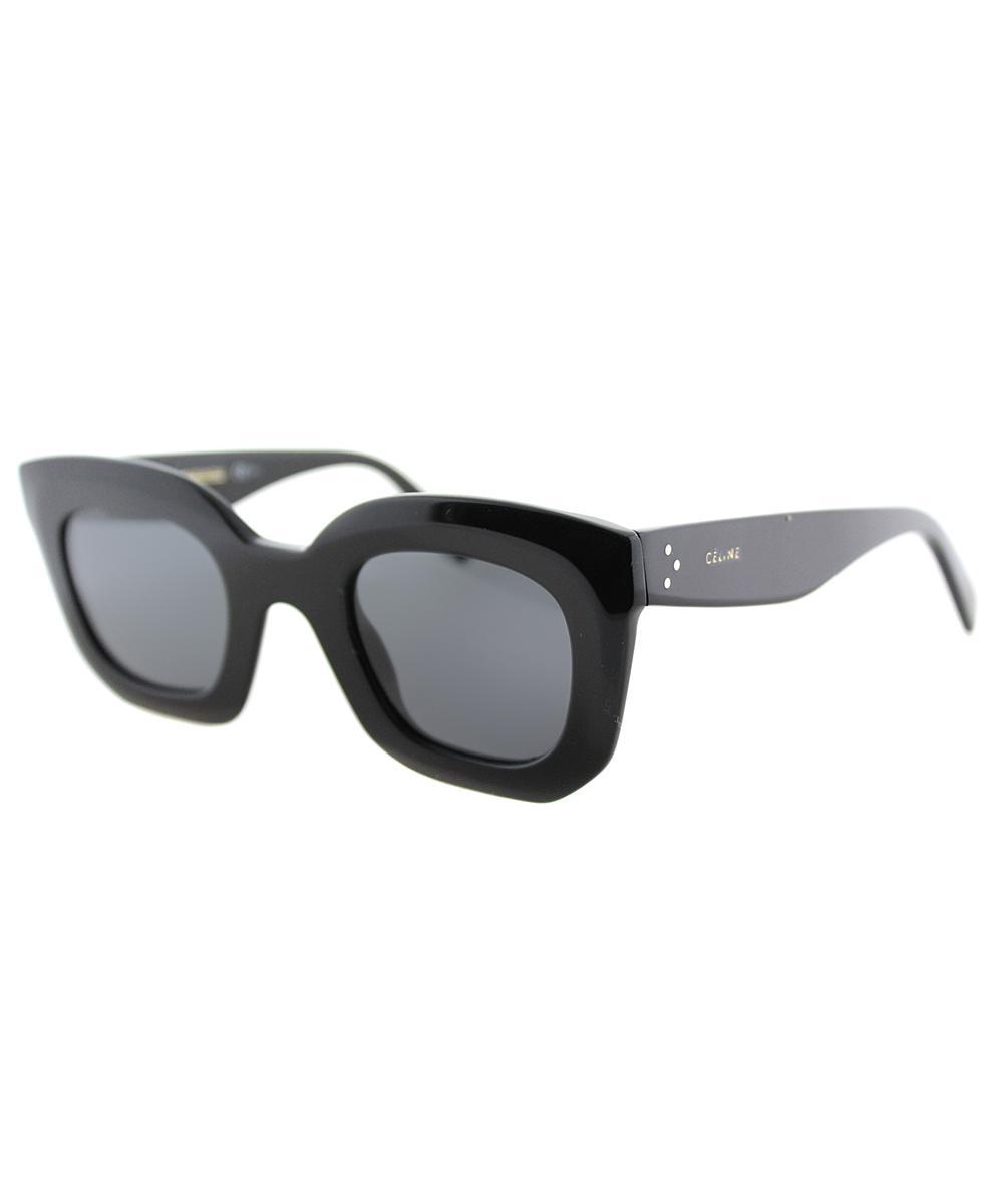 05bbaf9b8d90e Lyst - Céline Marta Small Square Plastic Sunglasses in Black