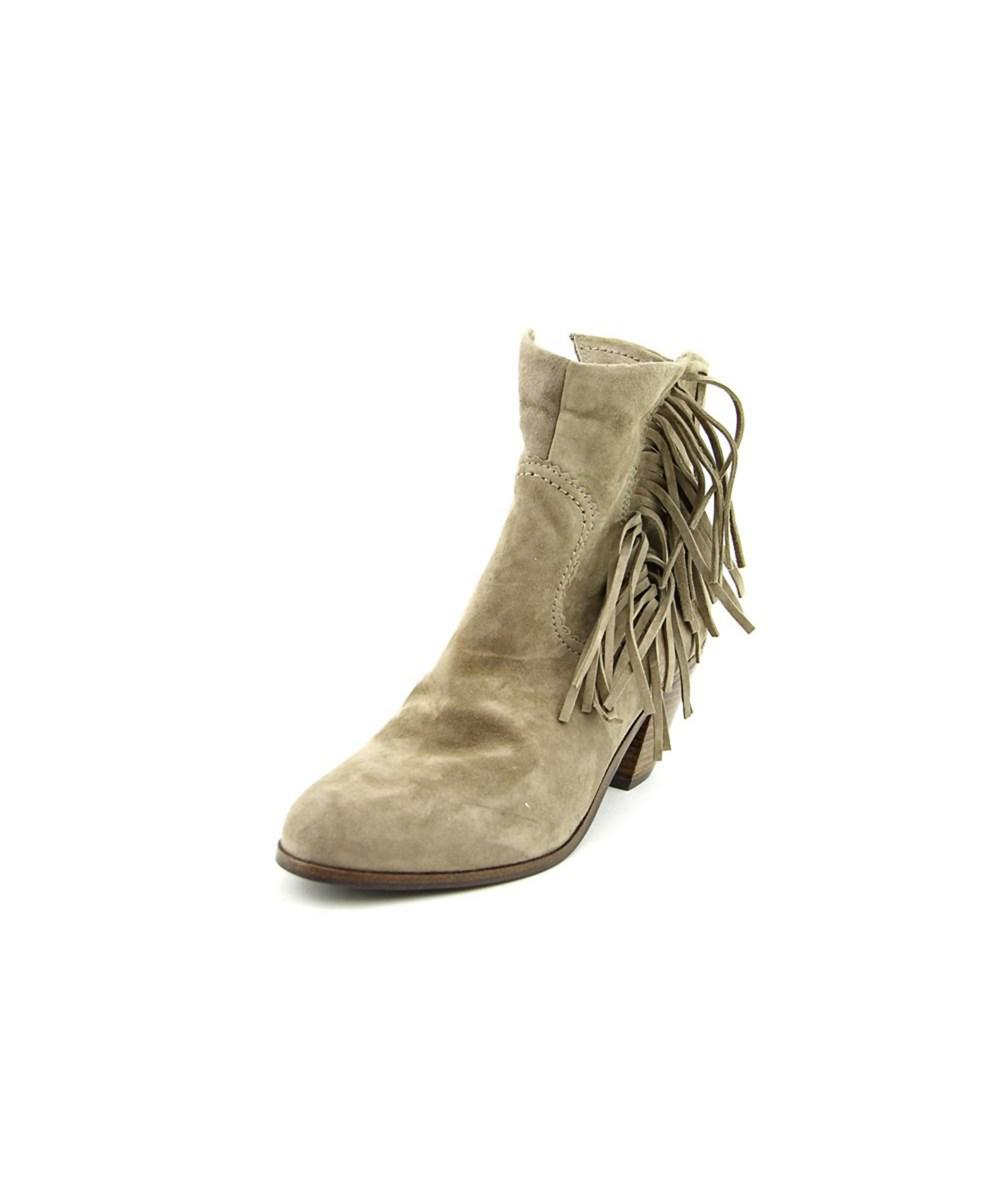 1041b378899b92 Lyst - Sam Edelman Louie Round Toe Suede Ankle Boot in Natural