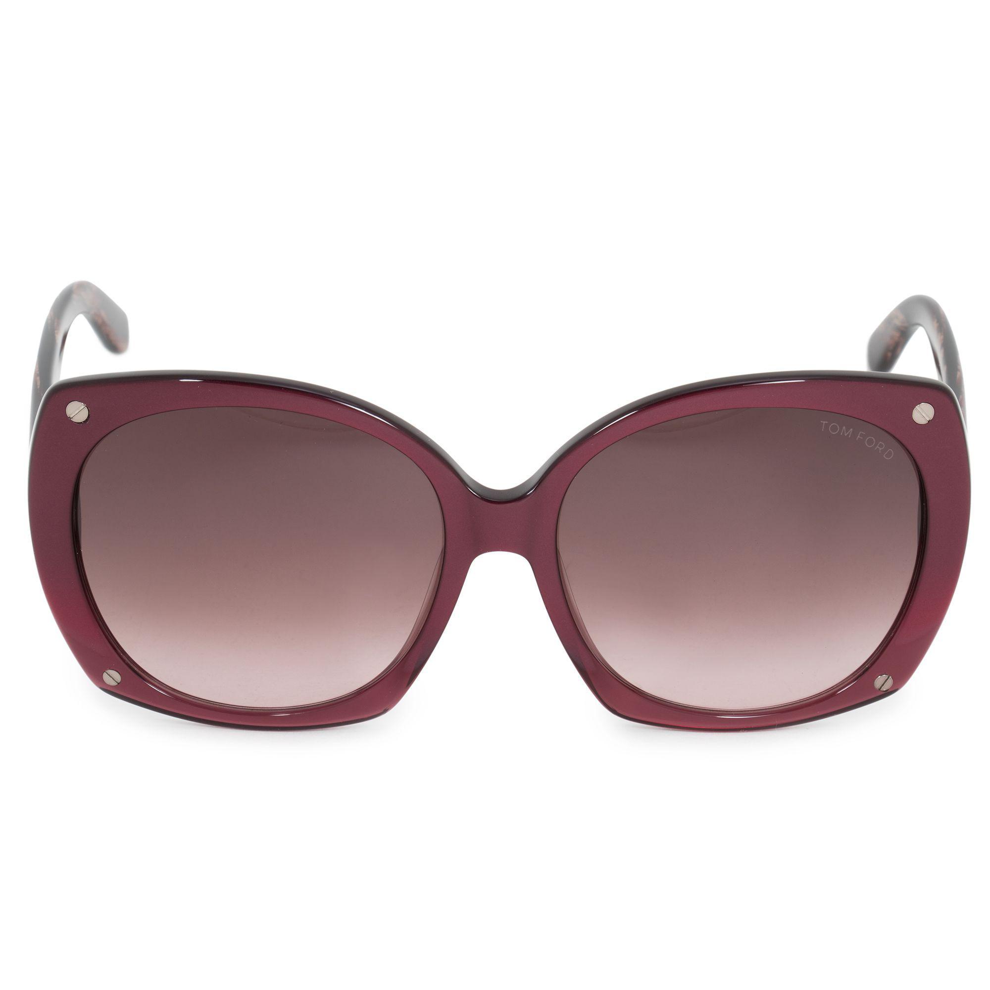 3afb81cf4e Lyst - Tom Ford Gabriella Oval Sunglasses Ft0362 80b 59