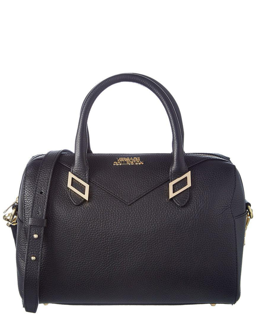 Lyst - Versace Leather Satchel in Black 2507b0c4ae077