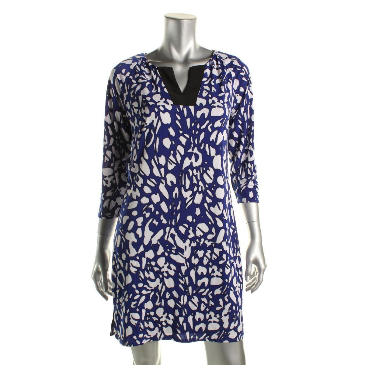 8ae7a84c7c Lyst - Laundry By Shelli Segal Womens Split Neck 3 4 Sleeve Wear To ...