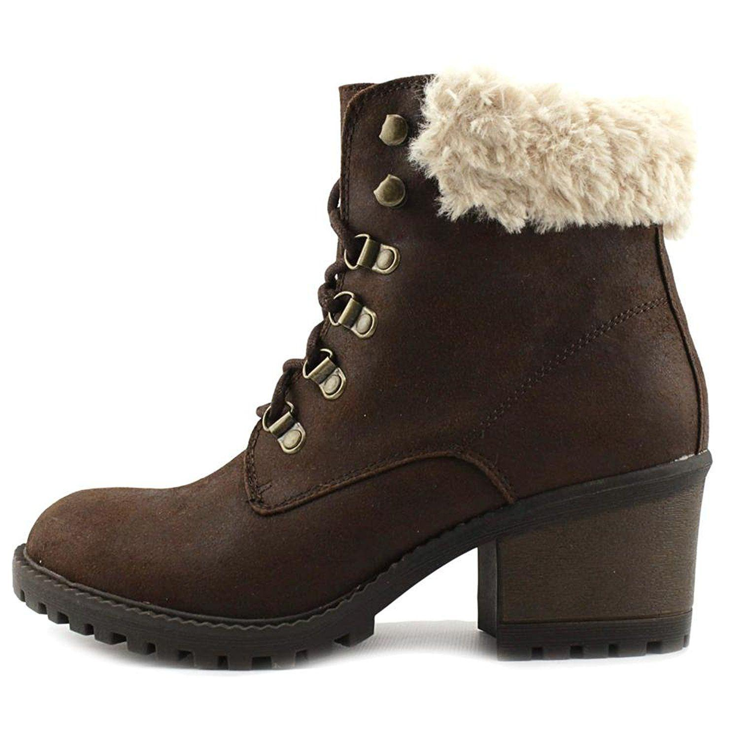 7655d17506ee White Mountain Footwear - Brown Womens Trident Fabric Round Toe Ankle  Fashion Boots - Lyst. View fullscreen