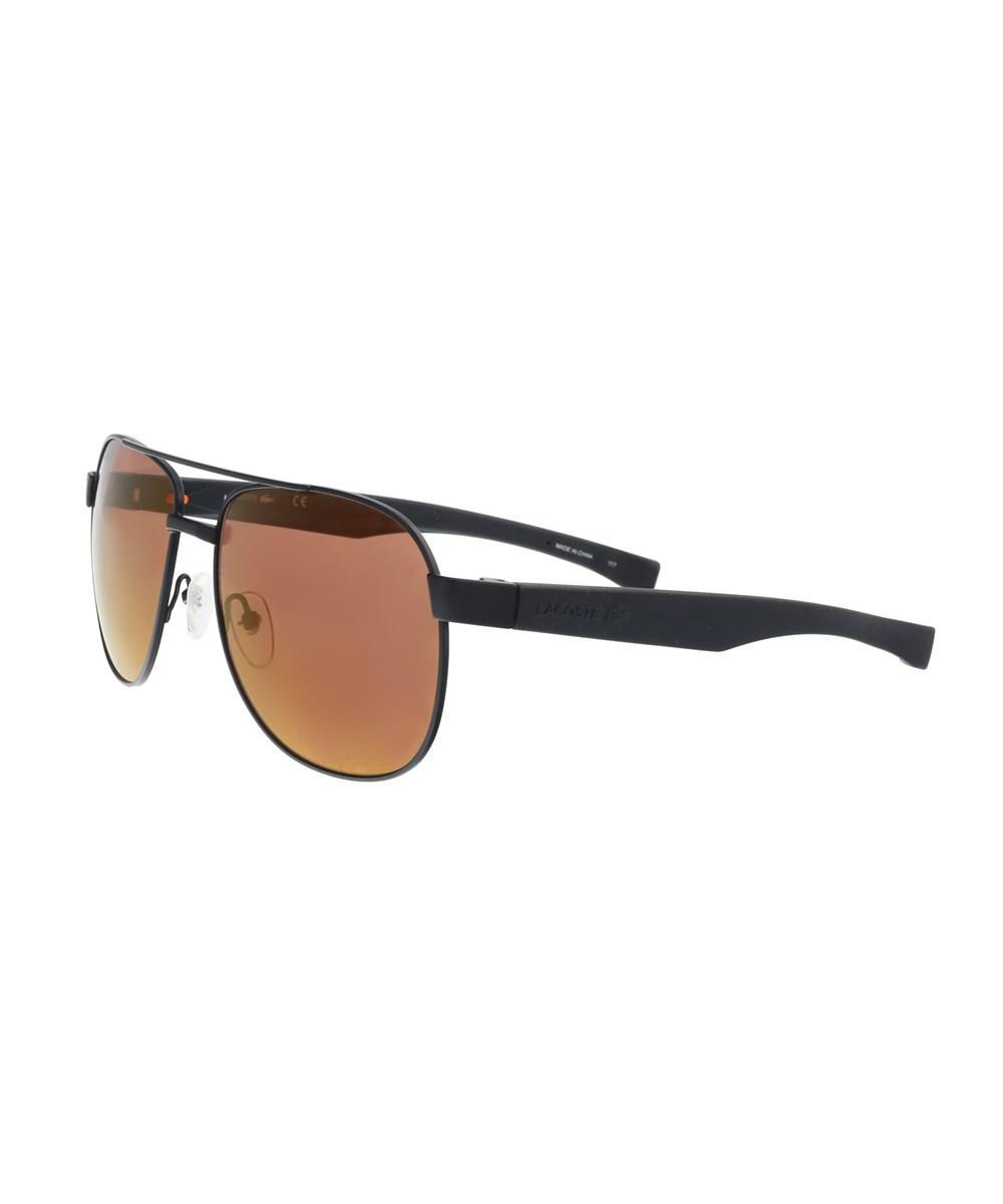 50655204c46 Lacoste L186s 001 Black Matte Modified Rectangle Sunglasses in Black ...