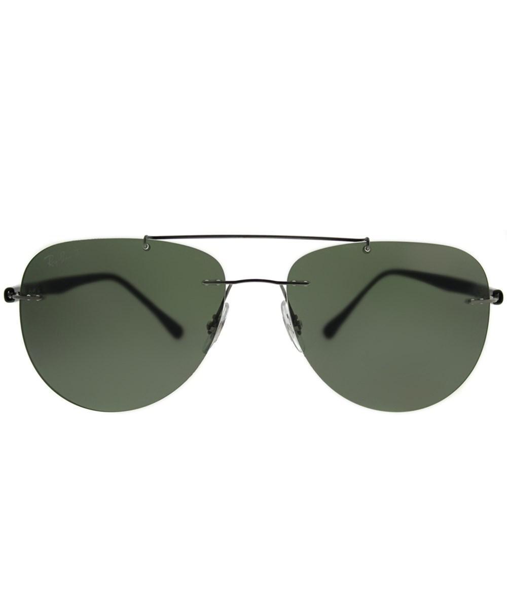 Lyst - Ray-Ban 0rb8059 004 9a 57mm Gunmetal Aviator Sunglasses - Save  40.41450777202073% f49377a2c064