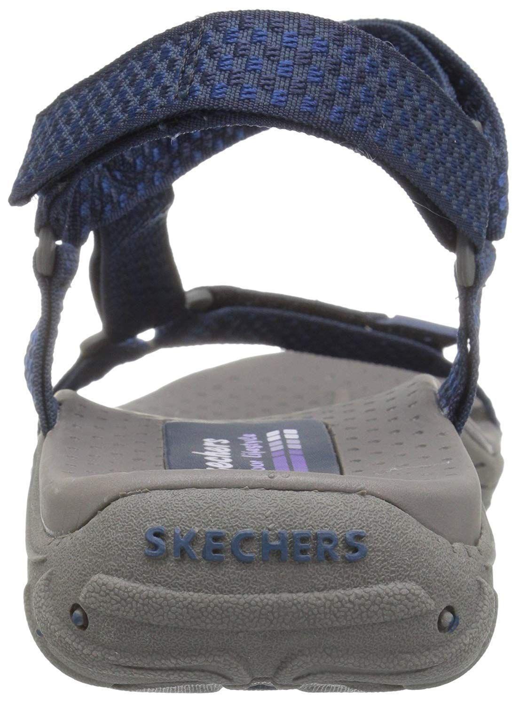 86f9d8312e72 Skechers - Blue Women s Reggae Misty Morning Sandal - Lyst. View fullscreen