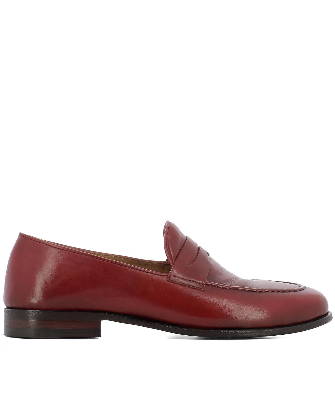 874b654d1bf Lyst - Alberto Fasciani Men s Red Leather Loafers in Red for Men