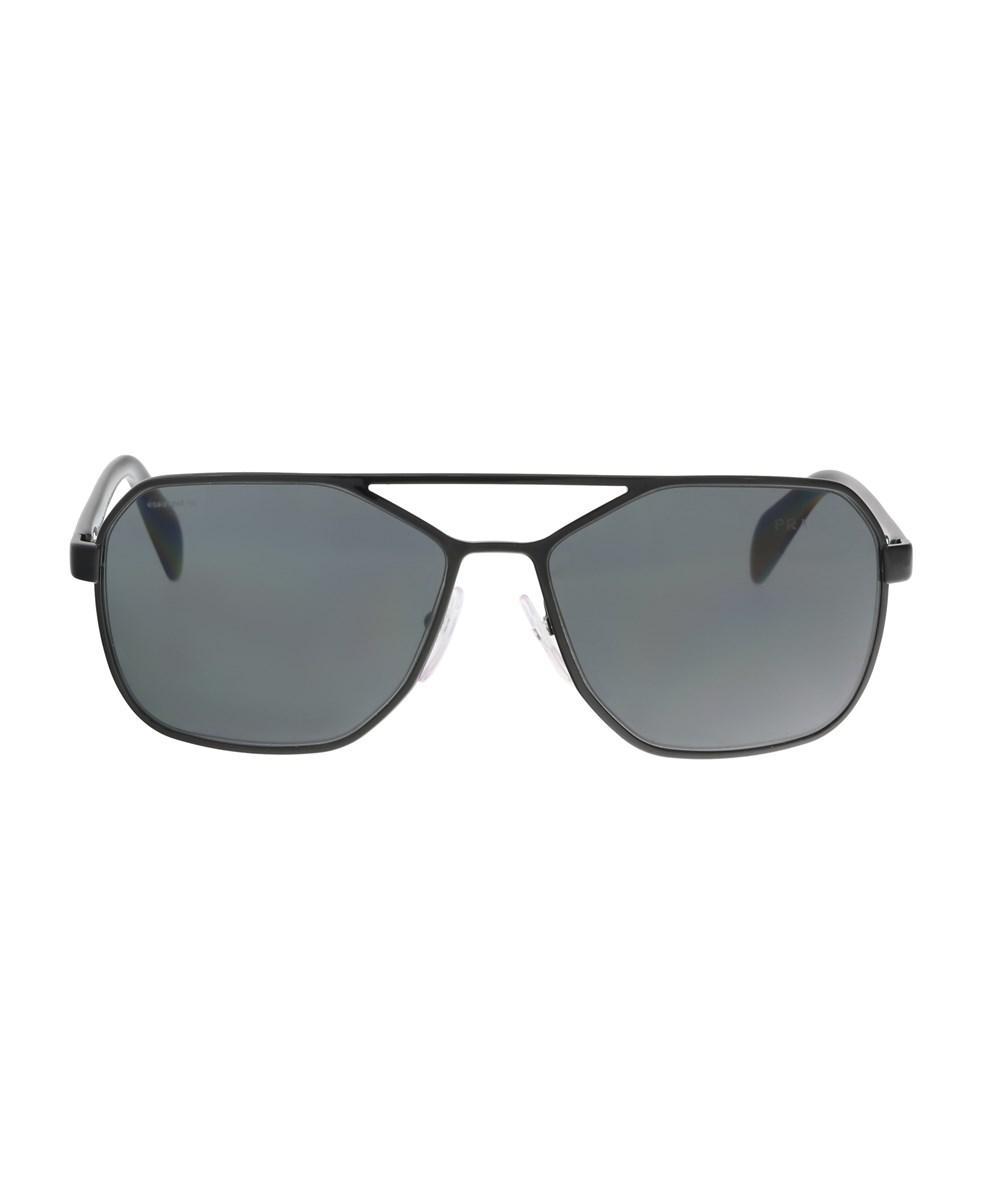 Square Aviator Sunglasses in Black PR 54RS 7AX1A1 60 Prada 91WIUq1Yv