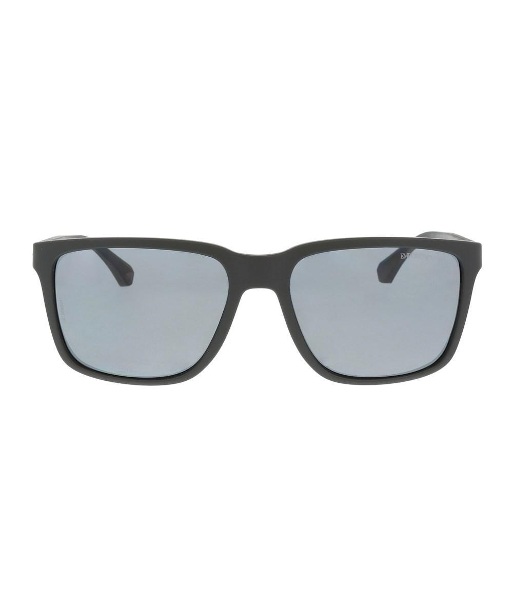 Lyst - Emporio Armani Ea4047 506381 Black Rectangle Sunglasses in Black for  Men ec2906f6146