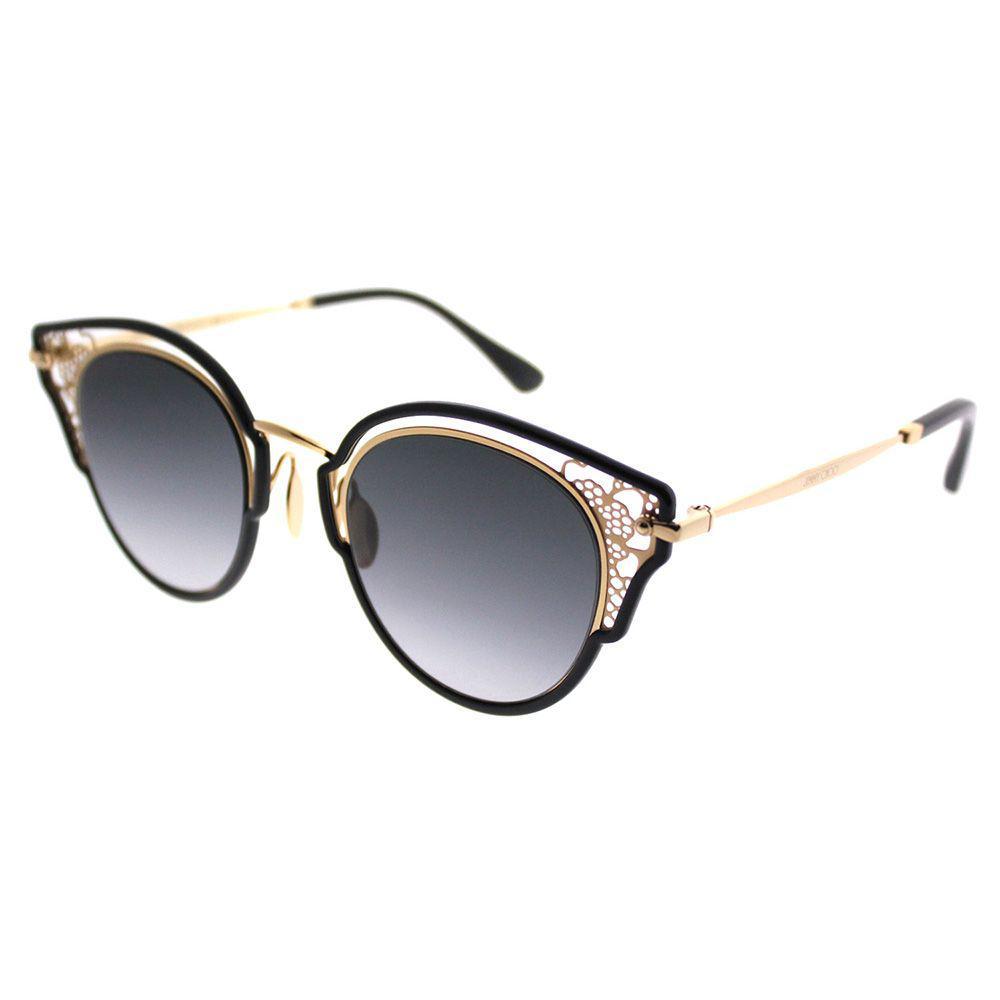 21e5b43f61 Lyst - Jimmy Choo Dhelia 2m2 Black Gold Cat-eye Sunglasses in Black