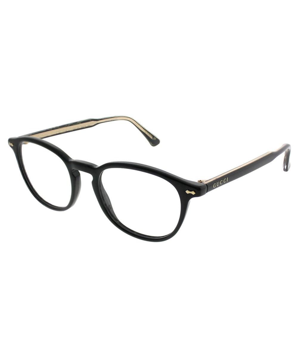 491107d81fb4b Gucci Gg0187o 005 Black Square Eyeglasses in Black for Men - Lyst