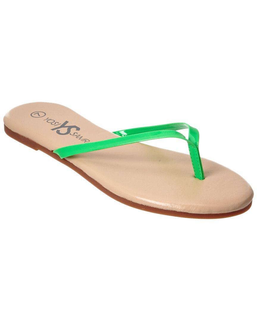 b7fc8c9119116 ... Lyst - Yosi Samra Roee Patent Thong in Green - Save 5.0% sale uk 40cc5   Women s Yosi Samra Rivington Flip Flop ...