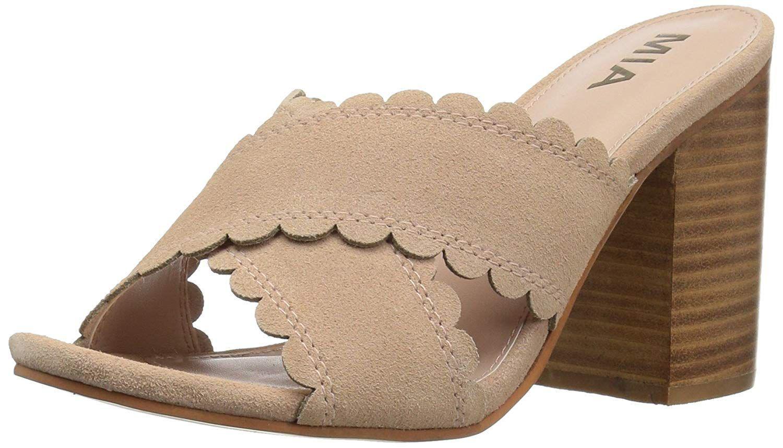 ec8569f53082d Lyst - Mia Womens Rosalyn Open Toe Casual Slide Sandals in Brown
