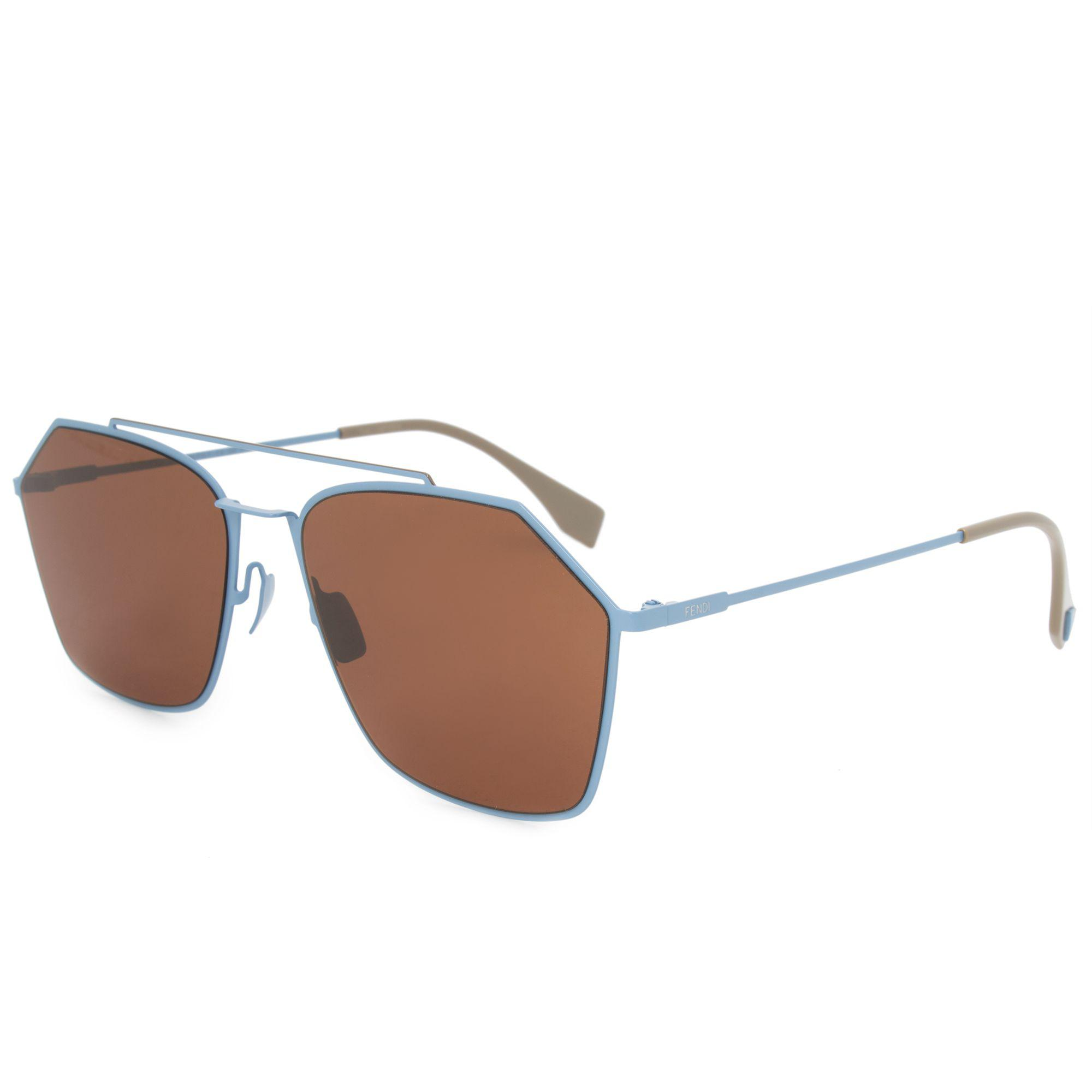 01ce2dea0e5 Fendi - Multicolor Eyeline Aviator Sunglasses Ffm0022s F Mvu 70 59 - Lyst.  View fullscreen