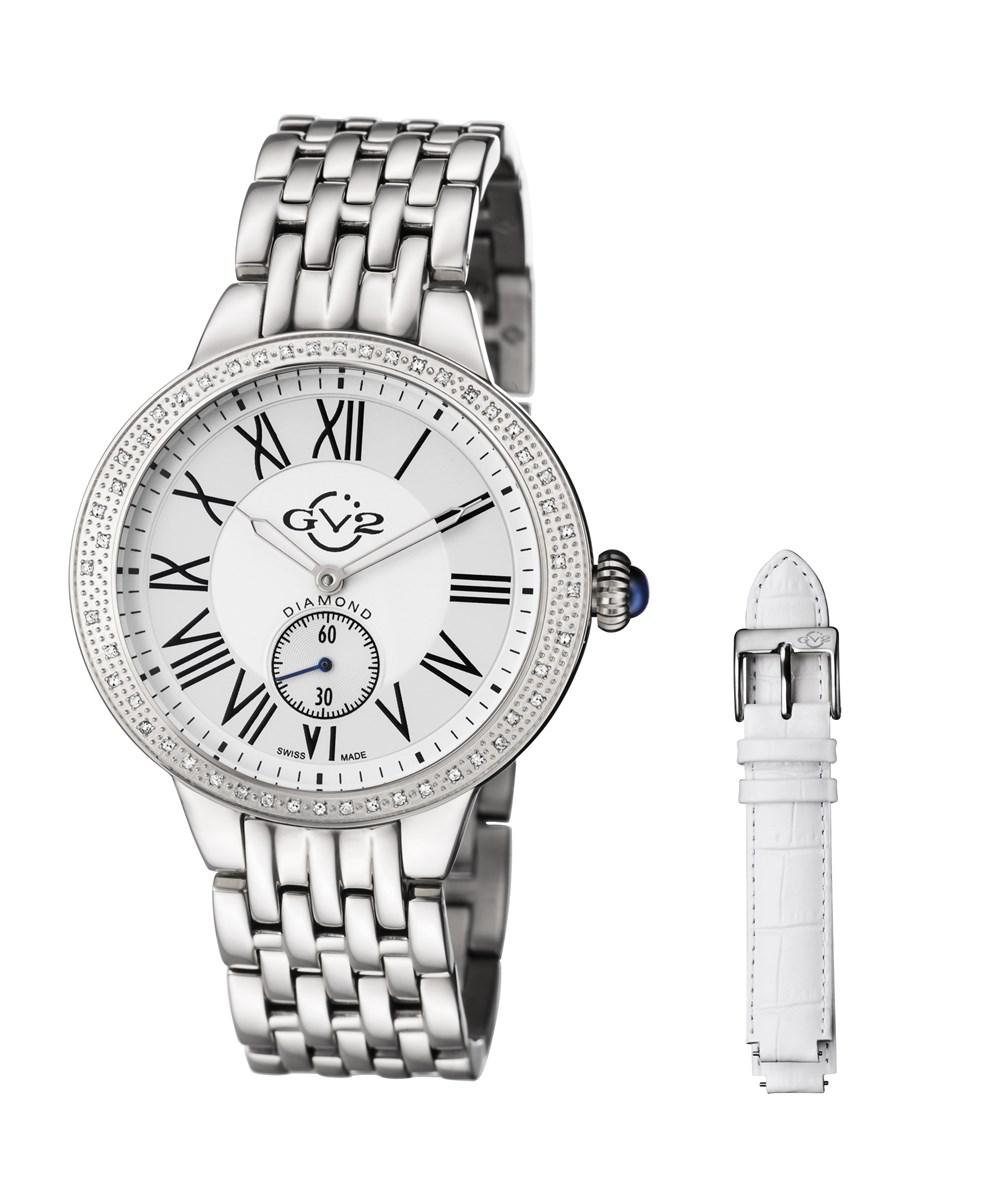 34c2b5109dd Lyst - Gv2   Diamond Astor Women s Silver Watch With Interchangeable ...