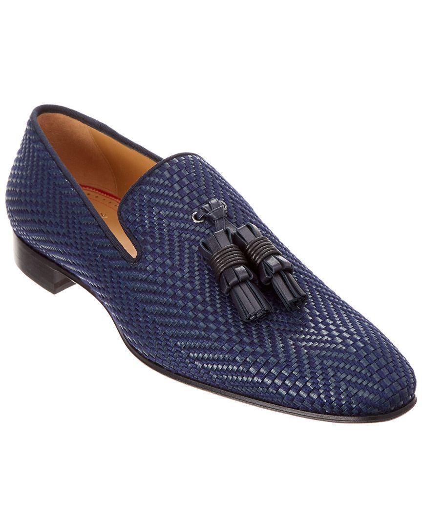 024ae52da4f8 Lyst - Christian Louboutin Dandelion 17 Leather Loafer in Blue for Men