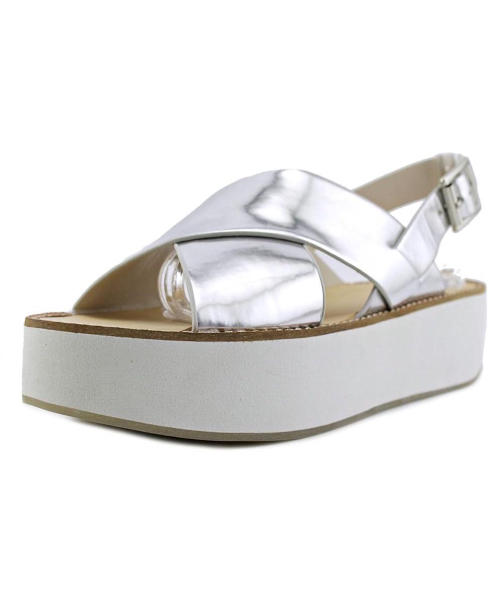 01f06d9777e Lyst - Aldo Glori Women Open Toe Leather Silver Platform Sandal in ...