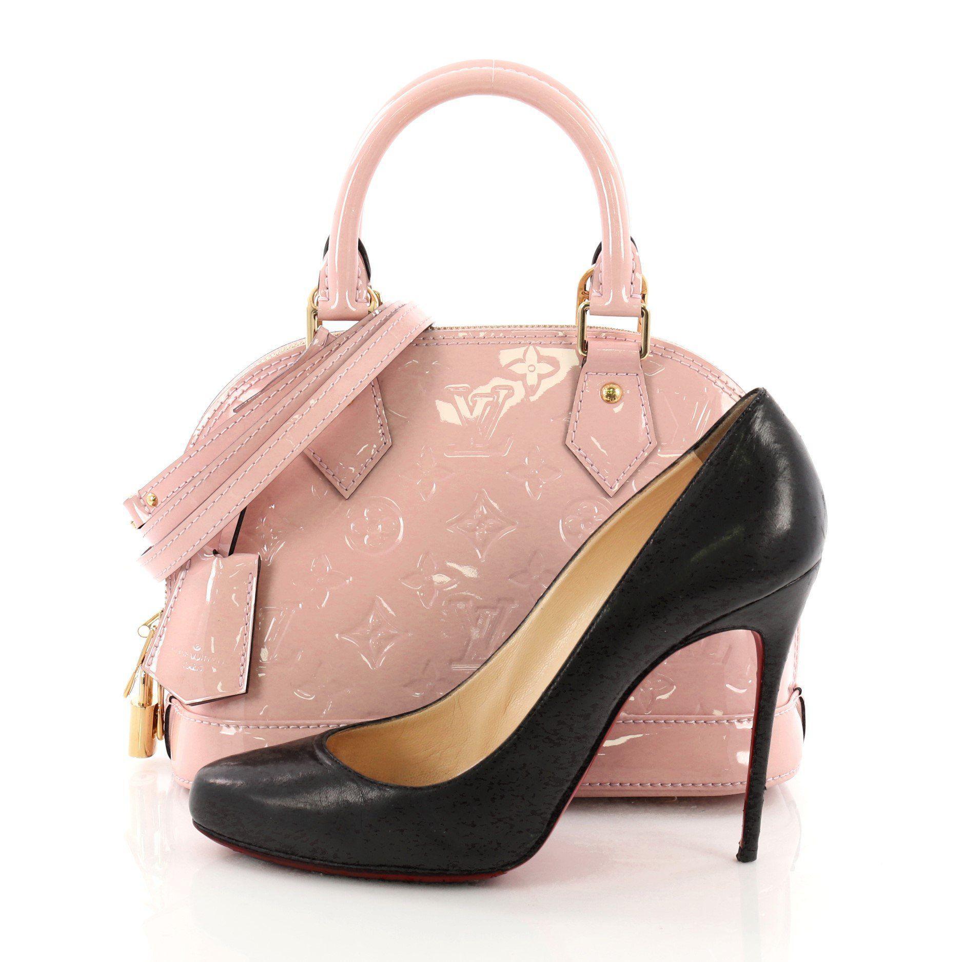 0523389e55e9 Louis Vuitton - Pink Pre Owned Alma Handbag Monogram Vernis Bb - Lyst. View  fullscreen