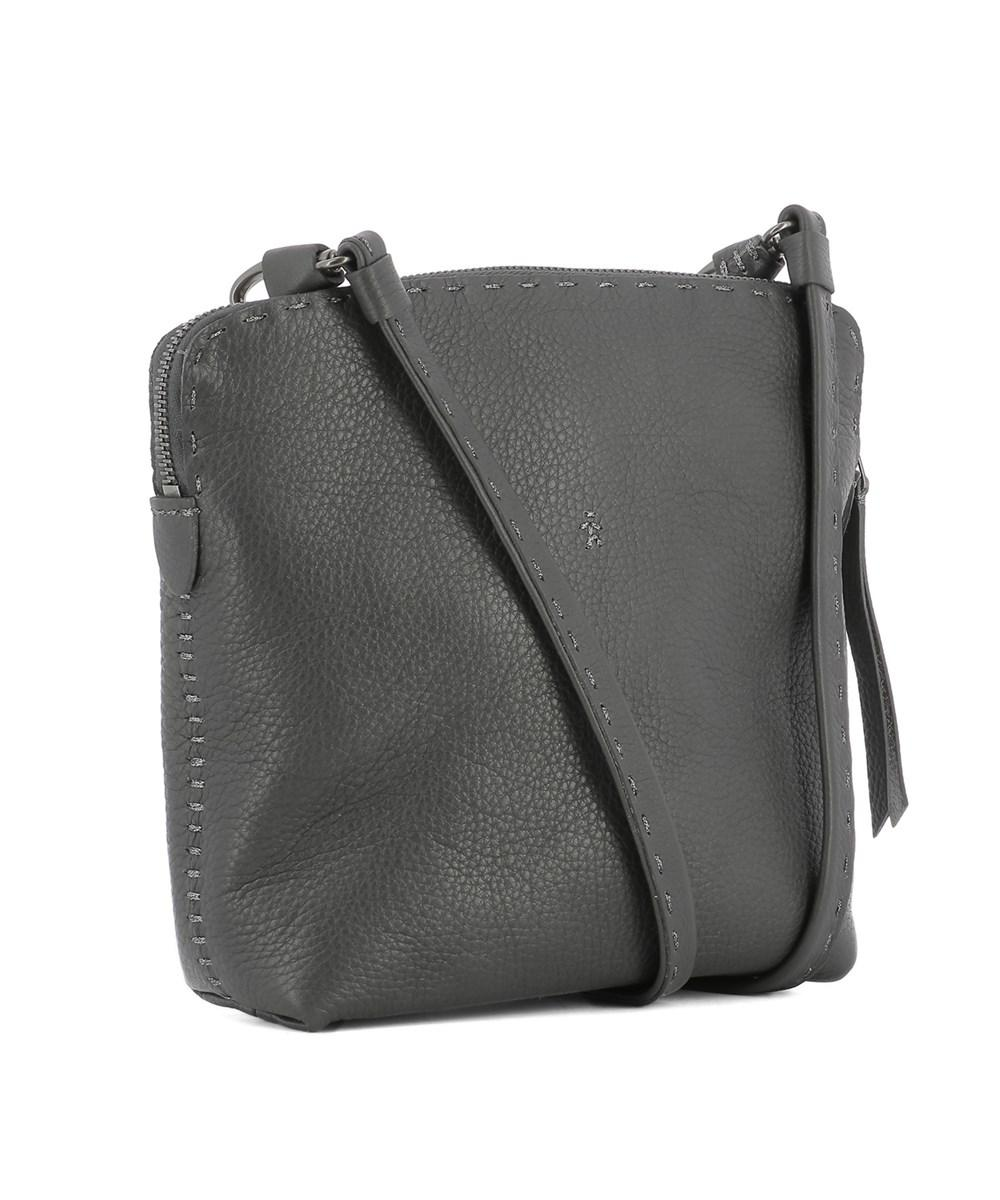 1fc006496c Lyst - Henry Beguelin Women's Grey Leather Shoulder Bag in Gray