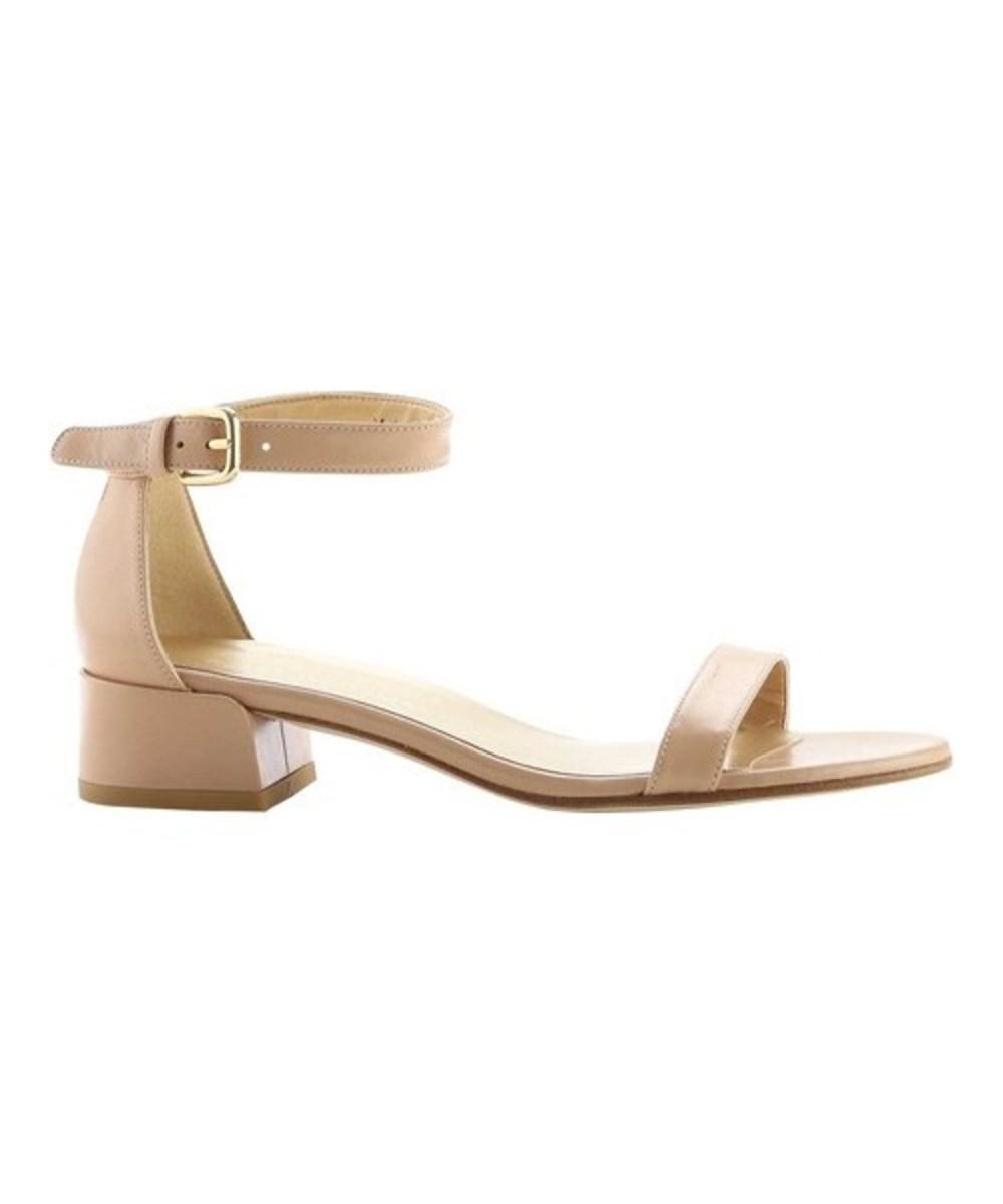 6e41f9e7a6e Lyst - Stuart Weitzman Women s Nudistjune Suede Block-heel Sandal - Save 19%