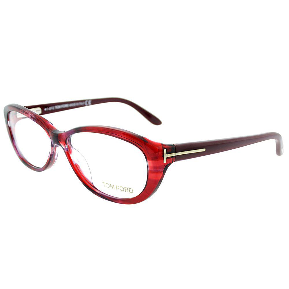 eec3d7c725f5 Lyst - Tom Ford Ft 5226 068 Burgundy Horn Oval Eyeglasses in Red