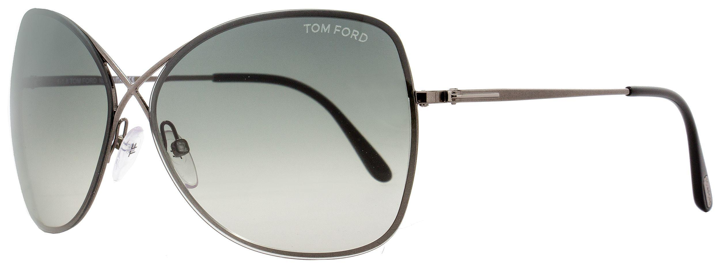 fe0adc0095 Tom Ford Butterfly Sunglasses Tf250 Colette 08c Gunmetal black 63mm ...