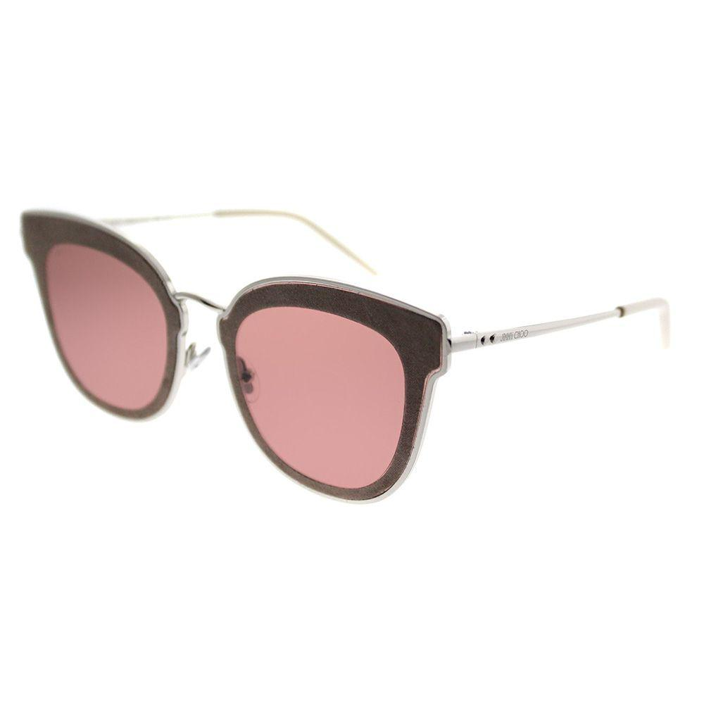6d11d7adaa08 Jimmy Choo. Women s Nile S0j 2m Silver Beige Cat-eye Sunglasses