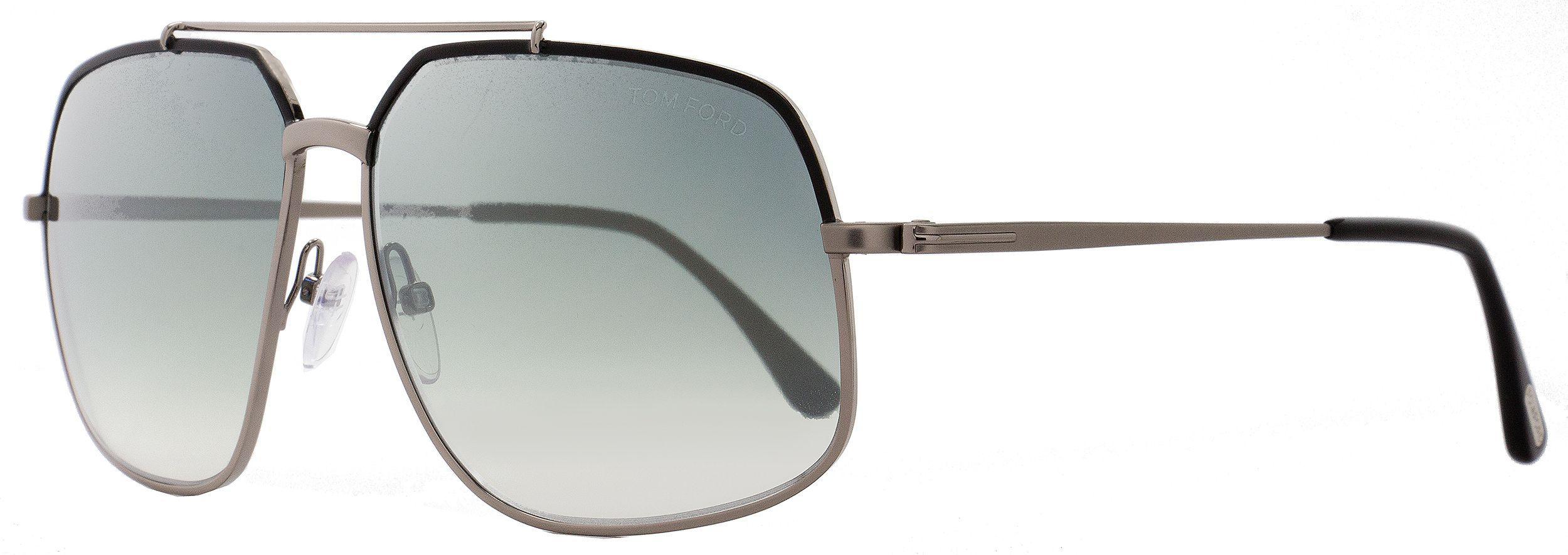 Lyst - Tom Ford Aviator Sunglasses Tf439 Ronnie 01q Gunmetal black ... 88c5f67e802c